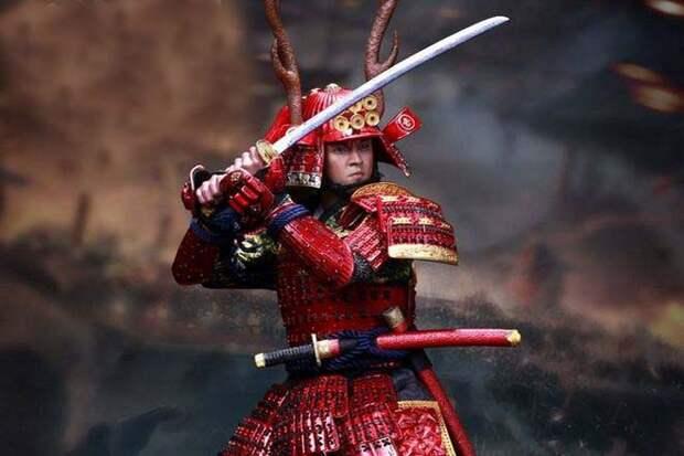 самурай с катаной и вакидзаси