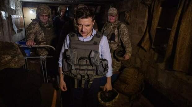 Раскрыта цель поездки Зеленского в окопы Донбасса