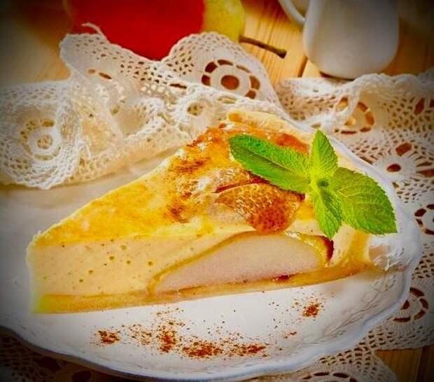 Грушевый пирог с творожным сыром