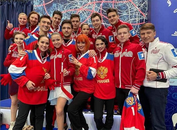 Загитова снова обыграла Медведеву.Правда, теперь не на Олимпиаде, а в роли капитана команды «Красная машина»