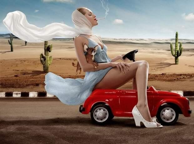 История женщины за рулем