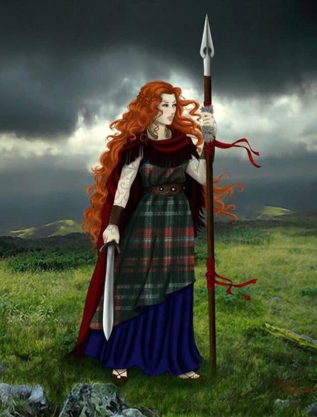 Воинственность кельтских женщин отмечали ещё римляне.