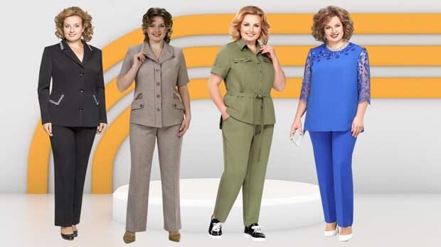 Современные брючные костюмы для женщин 50+ лет