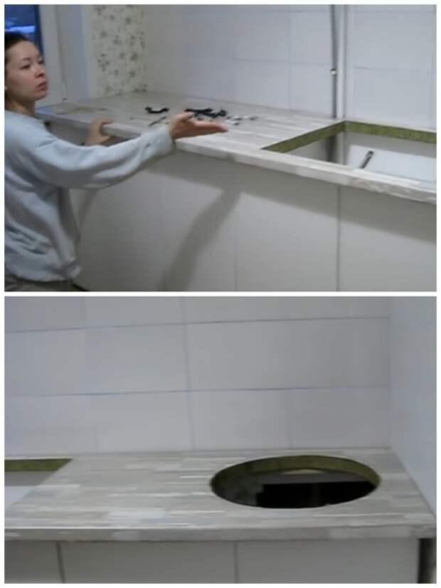 Оформление рабочей зоны на кухне. | Фото: youtube.com.
