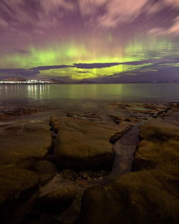 Полярное сияние в Австралии: завораживающие кадры