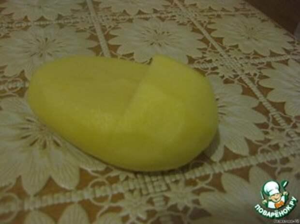 Лапти из картофеля с грибами и баклажанами фото