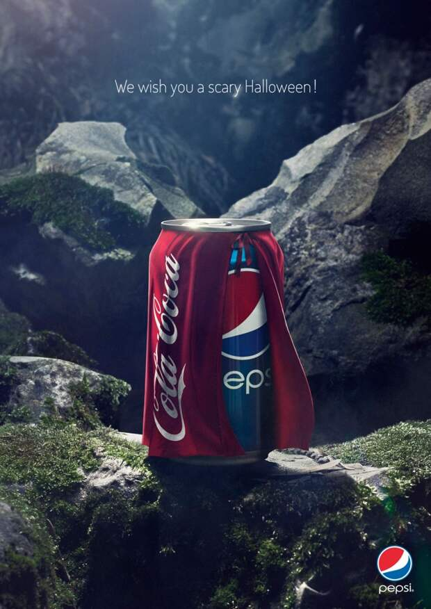 Pepsi в Хэллоуин наряжается Coca-Cola