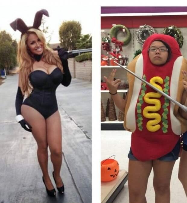 На Хеллоуин девушки тоже делятся на 2 типа  девушки, прикол, юмор