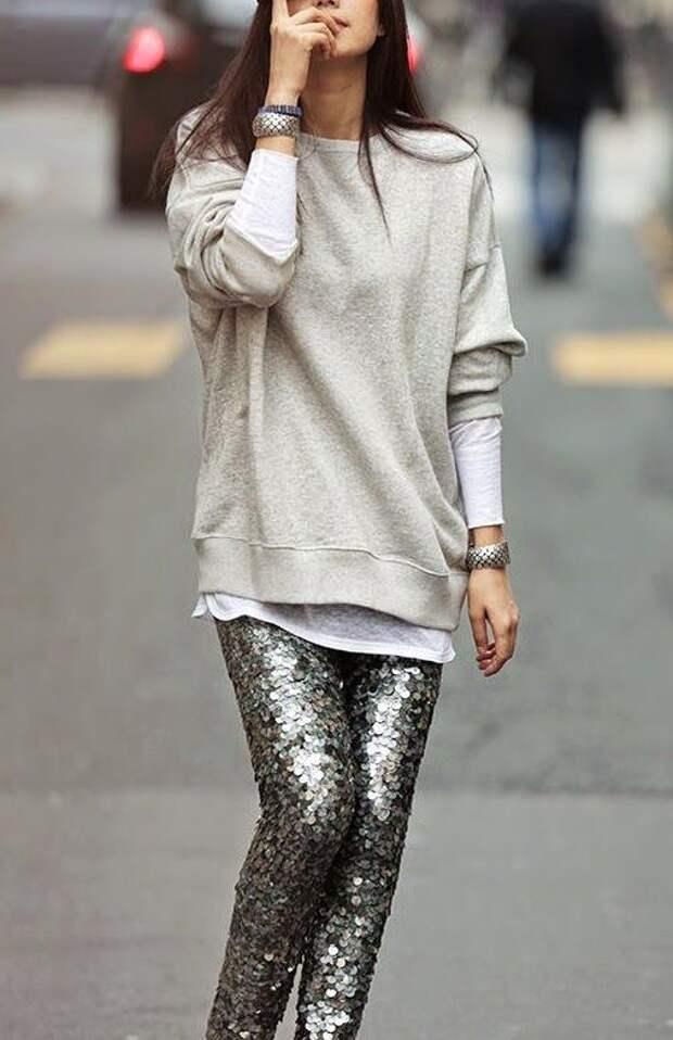 Серебряные брюки