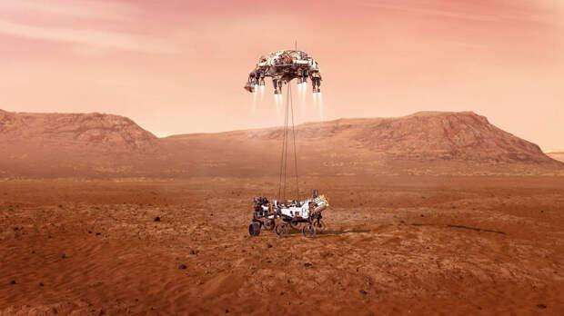 Марсоход «Персеверанс» совершил посадку на Марс