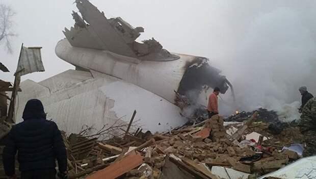 На месте крушения турецкого грузового Boeing 747 под Бишкеком. Архивное фото