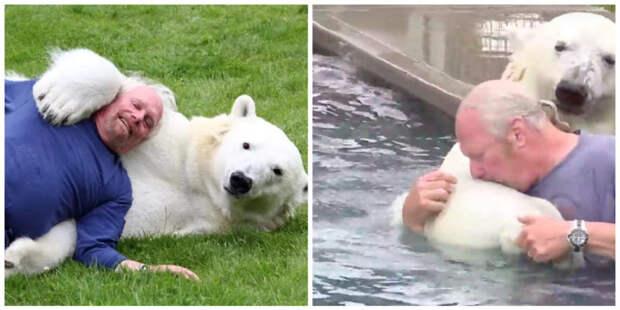 Вот уже более 20 лет мужчина дружит с белым медведем