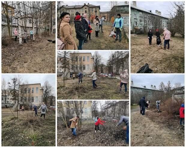 Петрозаводчане убрали сквер Карельских Рун и парк Патриот