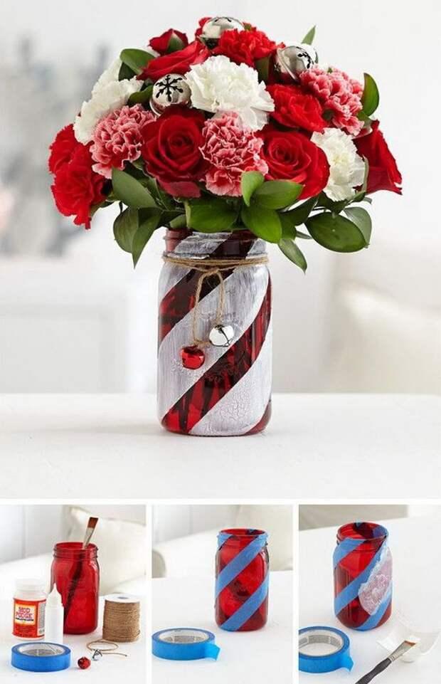 Новогодняя ваза(Diy)