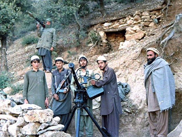 Моджахеды в горах Афганистана