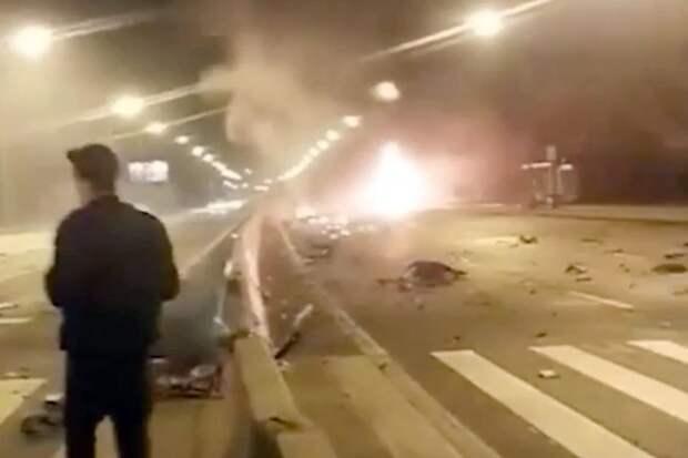 Установлена личность сгоревшего за рулем спорткара в Москве