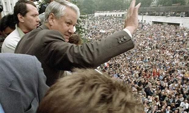 Митинг Ельцина август 1991 года