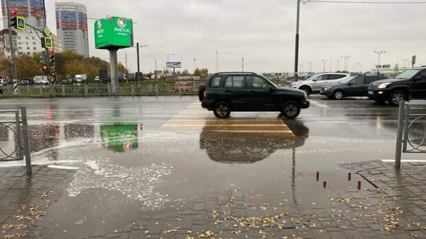 В Рязани вновь затопило отремонтированный переход у «Глобуса»