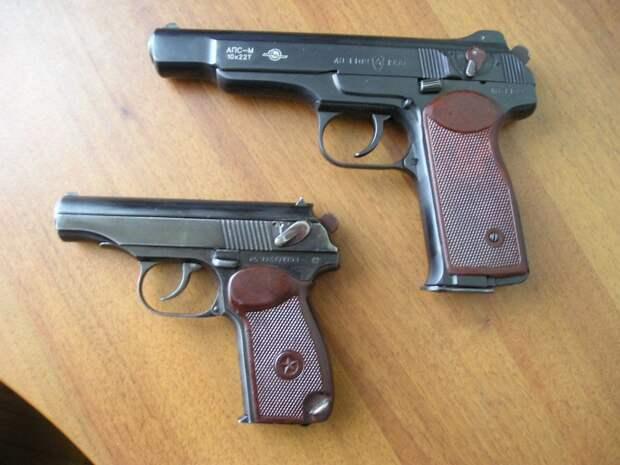 Автоматический пистолет Стечкина АПС под патрон калибра 9 мм
