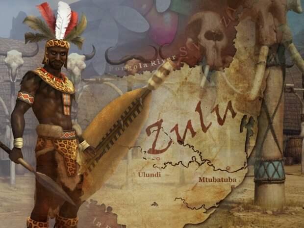 Чака - король Страны зулусов.