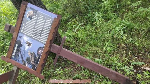 Хулиганы разломали стойки с информацией в Серебряном Бору
