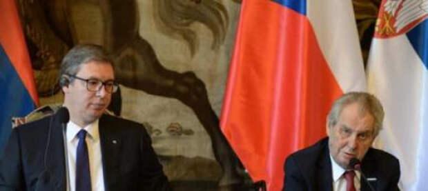 Президент Чехии извинился перед лидером Сербии за бомбардировки Югославии