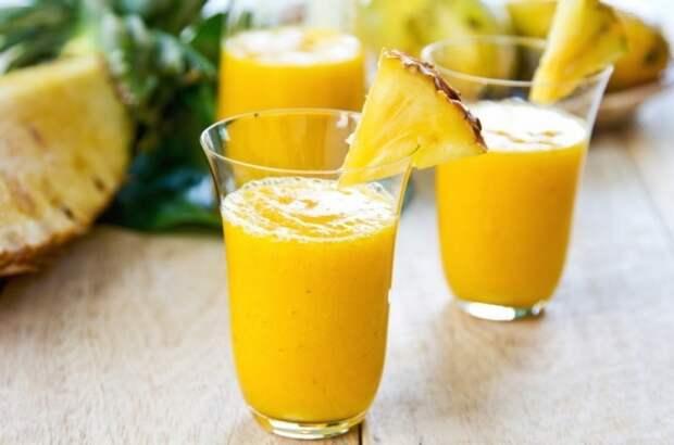 Ананасовый сок - польза для здоровья.