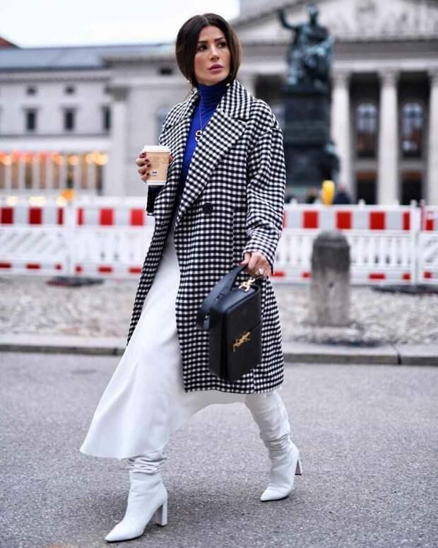 25 фото-примеров как и с чем их носить белые сапожки