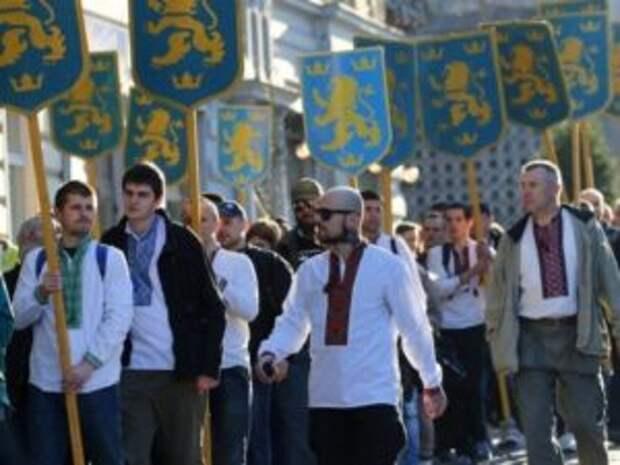 Участники марша в честь дивизии СС «Галичина» собрались в Москву