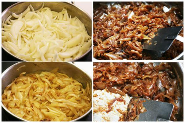 Карамелизированный лук - сливочное масло, сахар, оливковое масло - тушить медленно и долго... интересное, кухня, лук, рецепты, факты