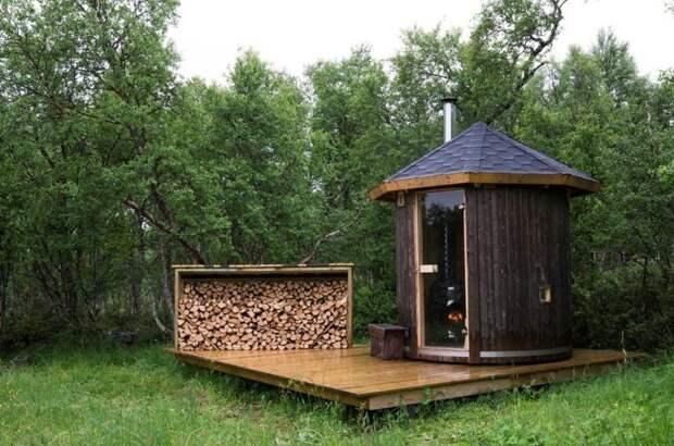 8. Некоторые приобретают загородный участок, чтобы первым делом построить там баню баня, березовый веник, необычные бани, сауна, фото