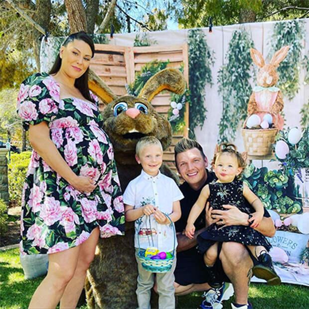 Ник Картер с женой и детьми