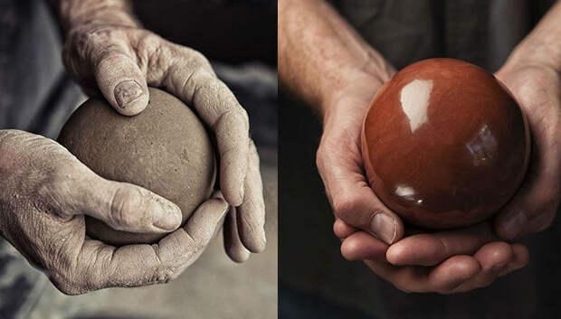 В Японии добрались до грязи: японцы полируют до идеального блеска шары из земли