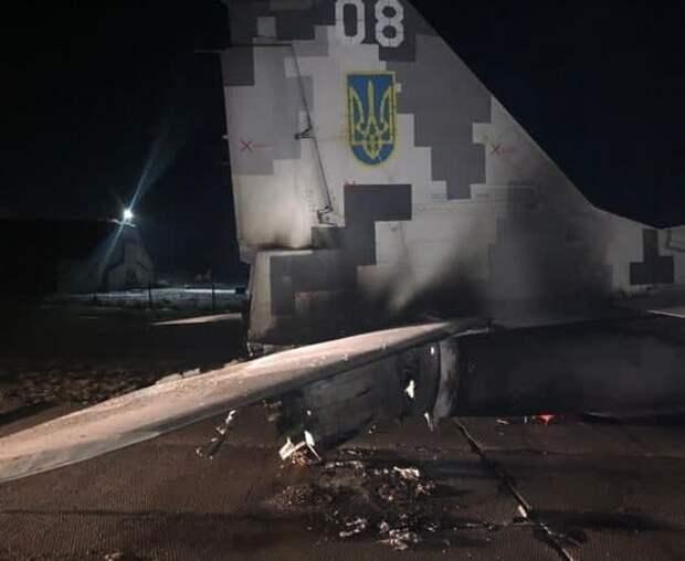 Капитан ВСУ на автомобиле протаранил МиГ-29