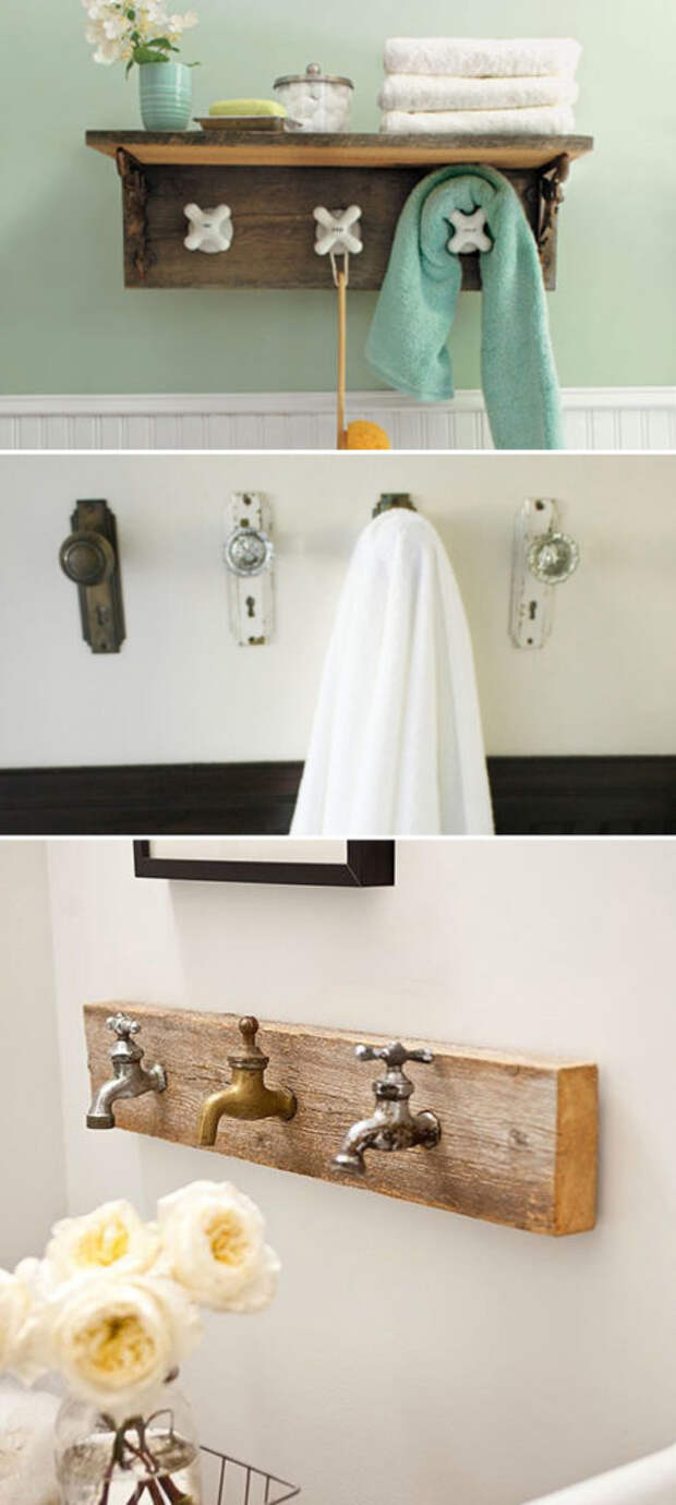 Не спешите выбрасывать старые вещи: 13 идей, как можно украсить ванную