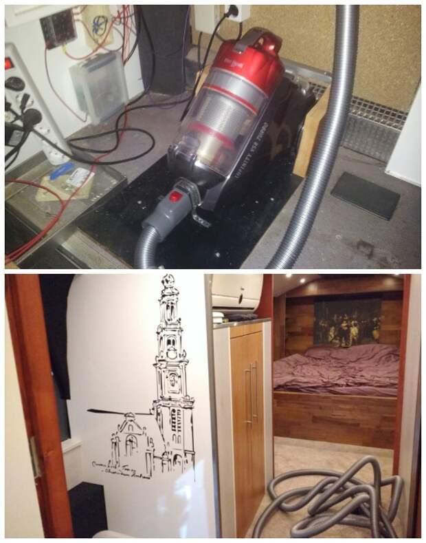 Для облегчения уборки был установлен центральный пылесос. | Фото: photos.google.com.