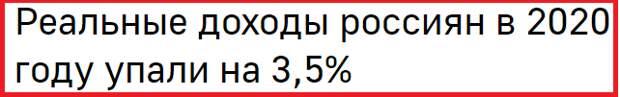 Реальные располагаемые доходы россиян (доходы минус обязательные платежи - налоги и сборы, проценты по кредитам и т.д., скорректированные на инфляцию) в 2020 году снизились на 3,5% по сравнению с 2019 годом, говорится в материалах Росстата.