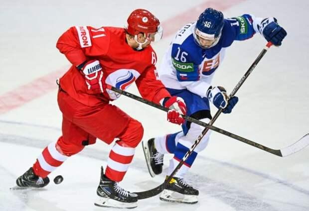 Российские хоккеисты уступили словакам в матче чемпионата мира