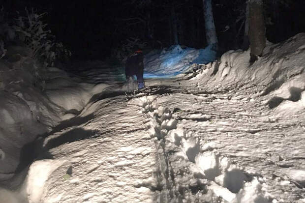 В горах Сочи спасли попавших под снегопад туристов