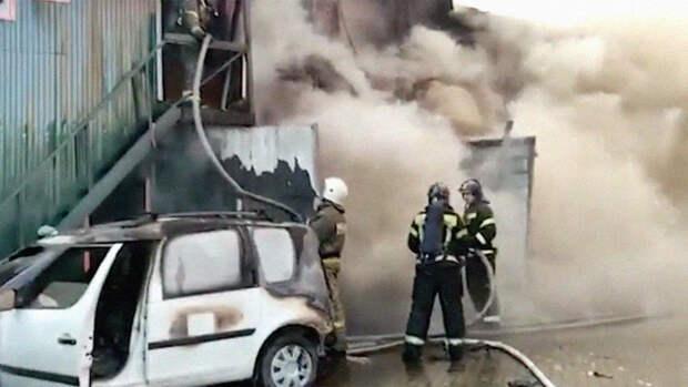 Число погибших при пожаре в сварочном цеху в Мытищах возросло