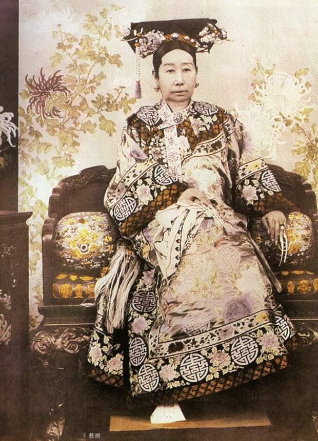 Вдовствующая императрица Цыси. | Фото: upload.wikimedia.org.