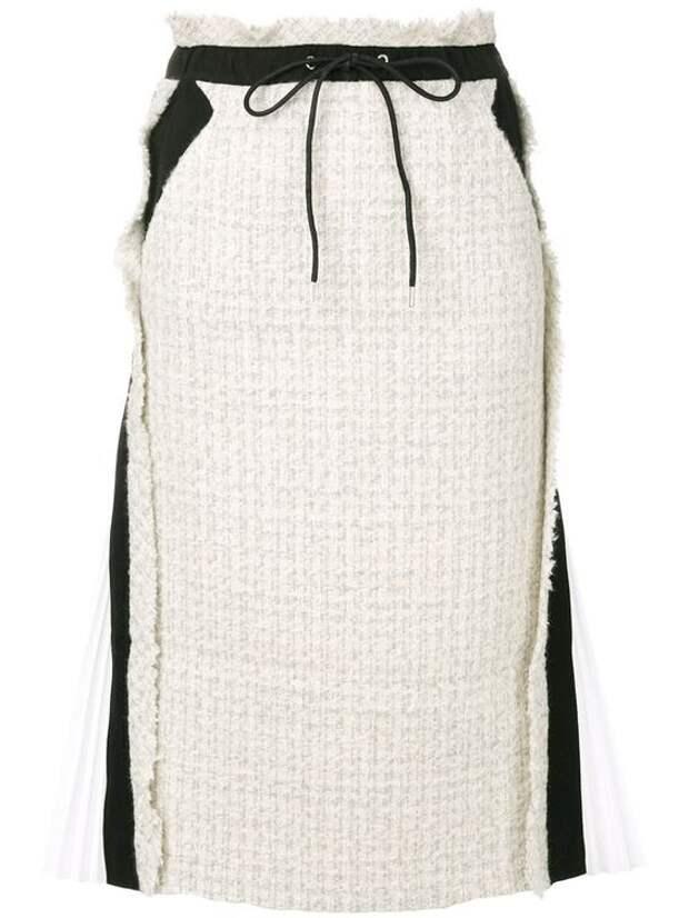 Тёплые юбки с простёжкой (подборка)