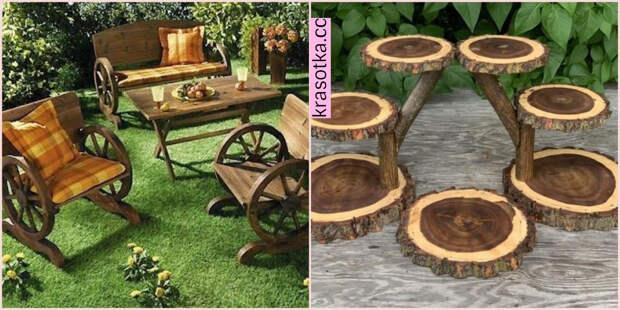 11 креативных вариантов деревянной мебели для вашего сада и двора