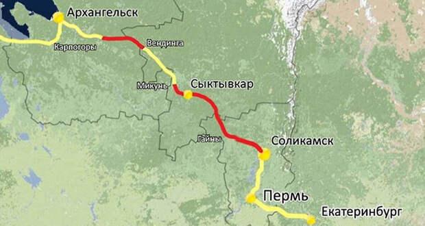 """Россия готовится начать строить очередной мегапроект за 278 миллиардов рублей - дорогу """"Белкомур"""". Но нужна ли она России"""