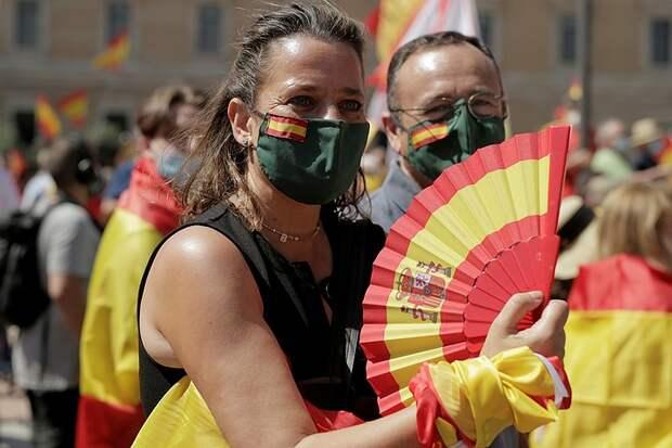 В Мадриде прошел митинг против помилования каталонских политиков