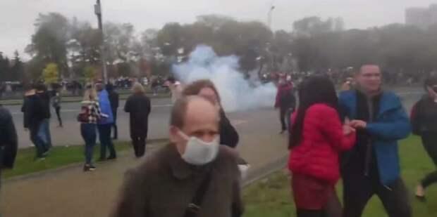 Наакции вцентре Минска задержаны неменее 70 протестующих