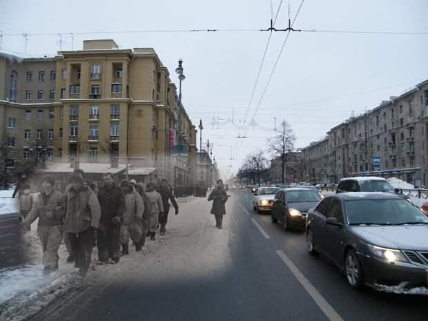 Ленинград 1944-2010 Пленные на Московском проспекте блокада, ленинград, победа