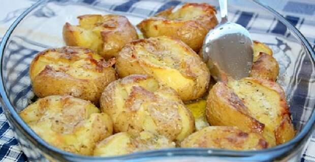 мятая картошка в духовке