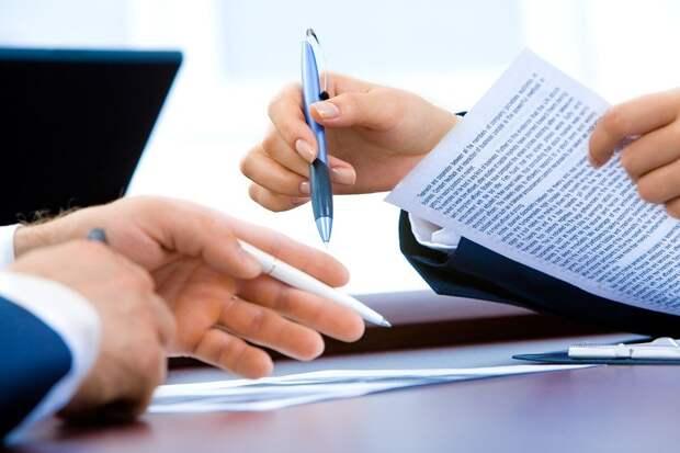 Ноутбук, Офис, Рука, Дать, Бизнес, Документ, Контракт