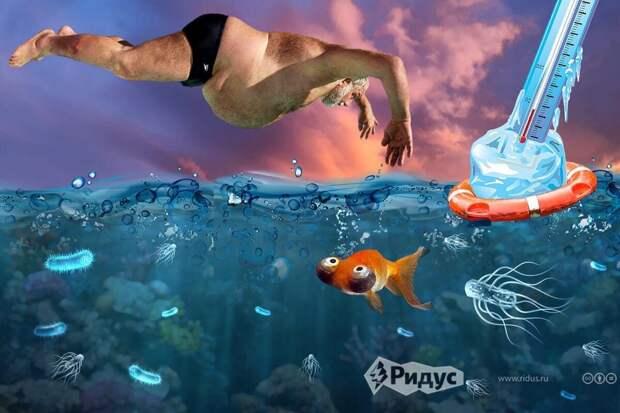 Уролог объяснил, чем для мужчин может обернуться купание в холодном водоеме